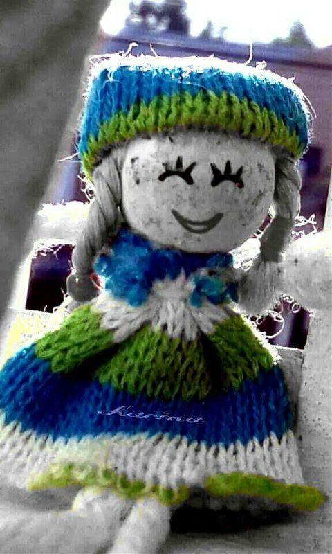 closeup cute doll