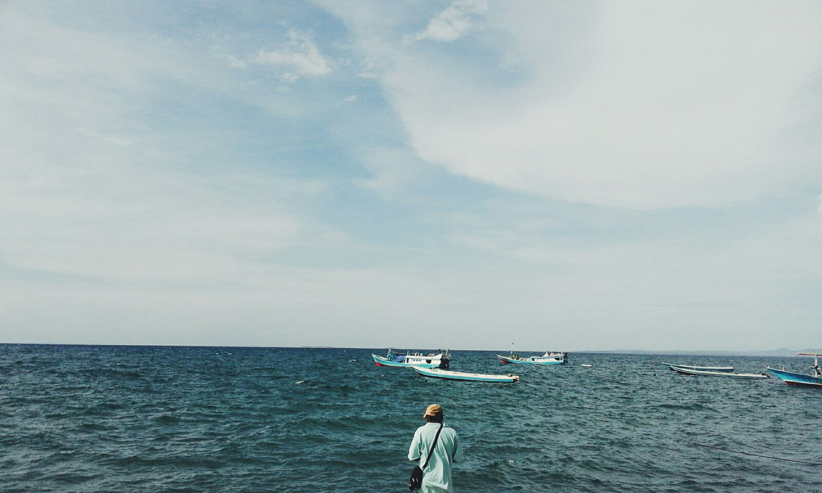 Blue Beach Holiday Image By Geri Kua