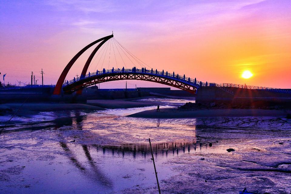 #Bridge #Invertedimage #sunset #orange
