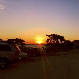 iphone sunset evening warm nature