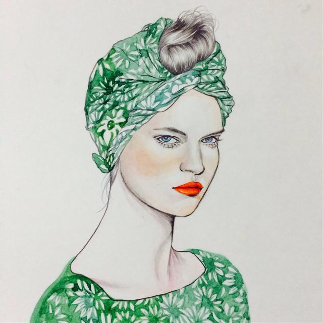 #illust #illustration #drawing #draw #pencil #pencilsketch #sketch #face #beauty #fashionillustration #art #artwork #warercolor #hair