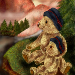 dcmountains drawing colorful teddybear art