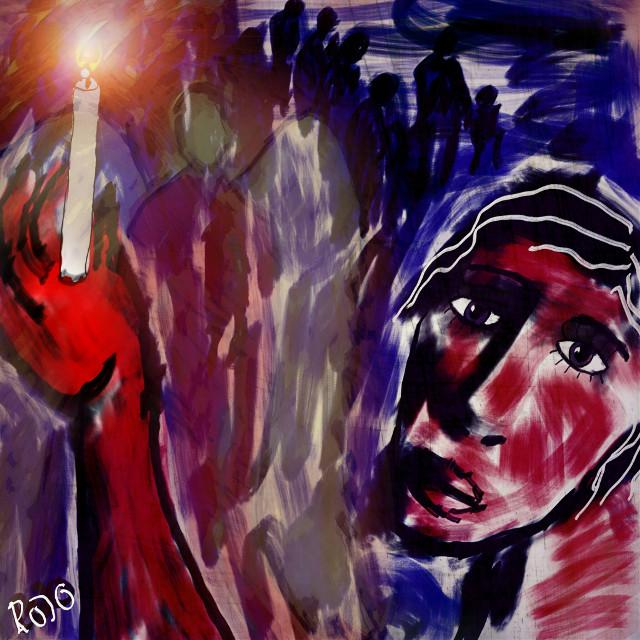 Imagine /john Lennon  #refugees#refugeeswelcome #rojo #artforpeace #freedoom #artforfreedom #drawing #art #colourful