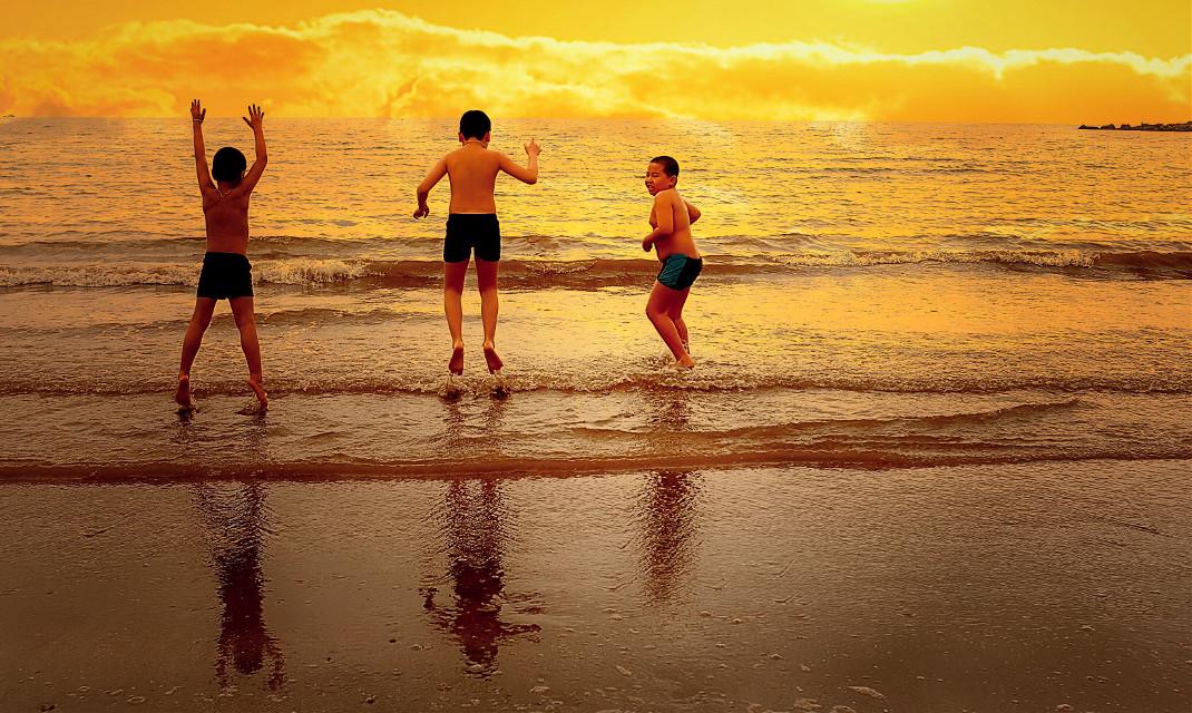 My sons  #beach #art #interesting #sea #sky #summer #swimming