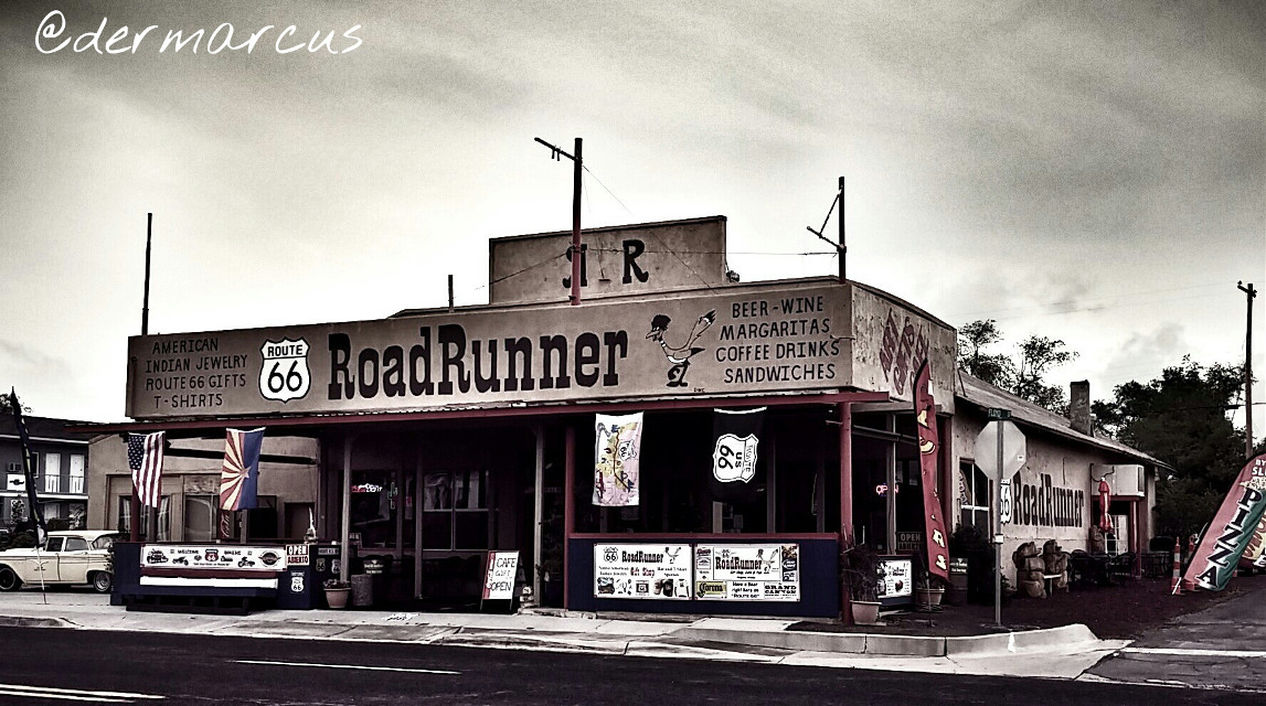 #route66  #usa  #travel  #roadrunner  #seligman   #photography  #cafe  #shop  #gifts  #drinks  #road  #retro