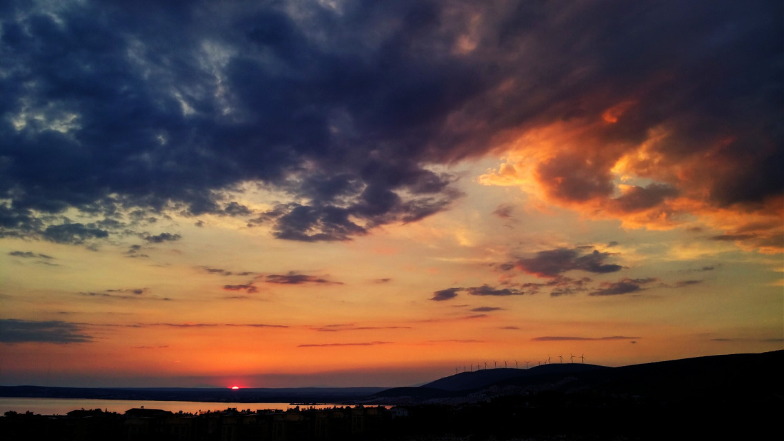 #summer #nature #photography #hdr #colorful #sunset #clouds