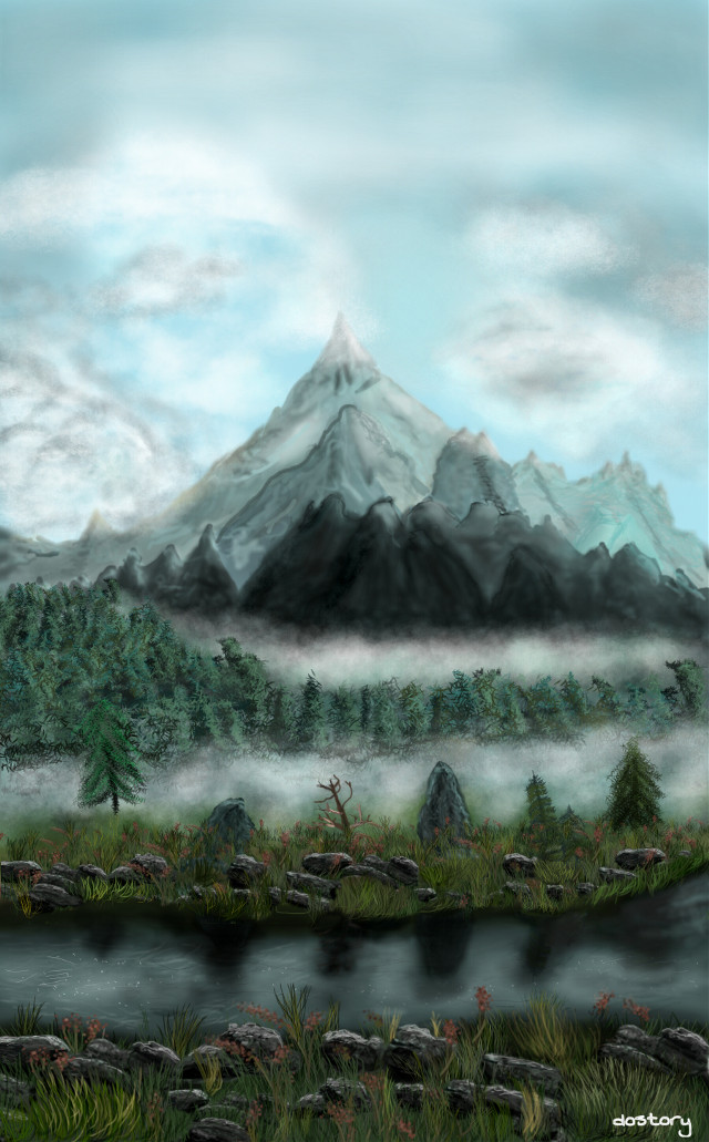 #dcmountains #drawing #mountains #landscape