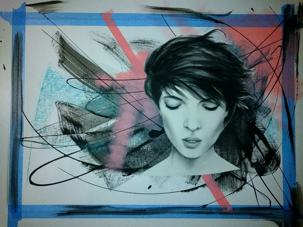 Work in progress...  #art #painting #drawing #colors #colorsplash #black #blackandwhite #beauty #artist #abstract #daily #dailyinspiration