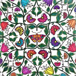 colorful flowers artistic colorsplash color
