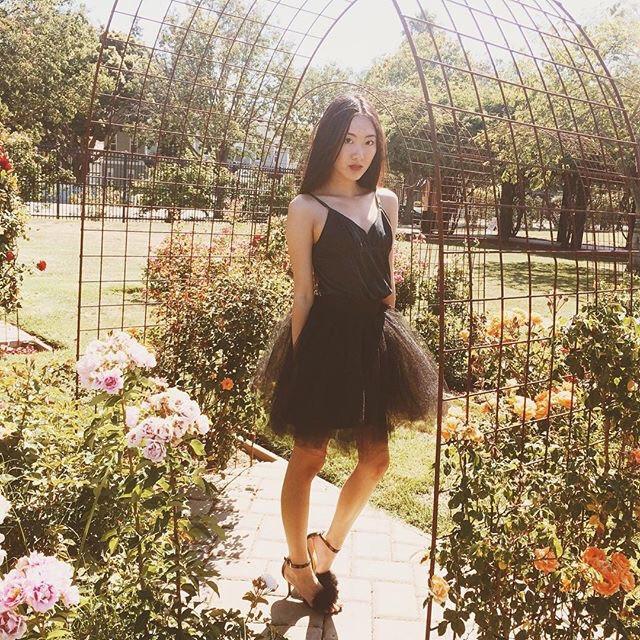 Dark princess in the rose garden 🌹