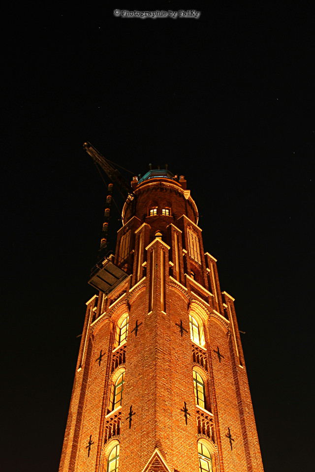 Lighthouse Bremerhaven at Night #photography #Night