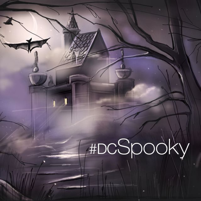 Halloween spooky drawing