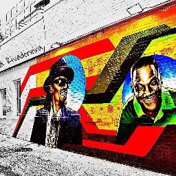 blackandwhite colorsplash colorful interesting streetart
