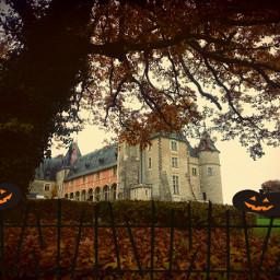 chateau castle france art halloween