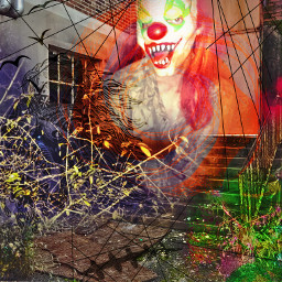 halloween collage juxtaposition haunted shadows
