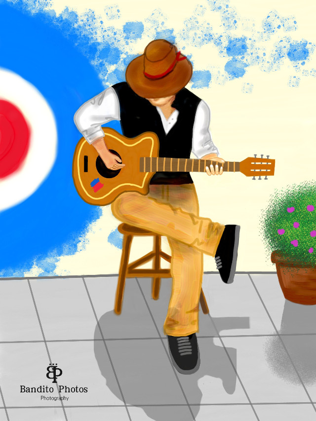 """street performers""...my simple drawing..hope u all like it...  #drawing #music  #wdpprimarycolors"