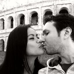 photography love blackandwhite kiss rome