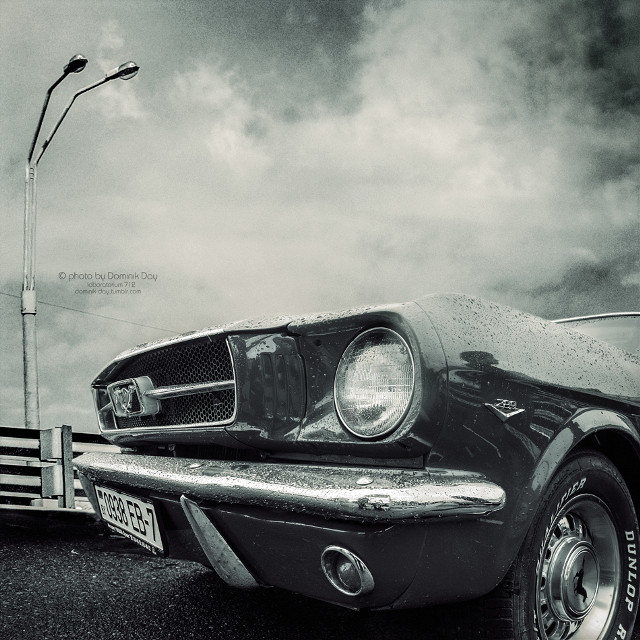 Ford Mustang #car #auto #blackandwhite #photography #design #ford #mustang #musclecar #monochrome #classic