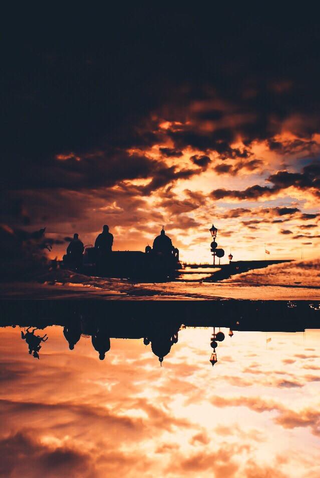 #picsart #sunset #reflection @picsart