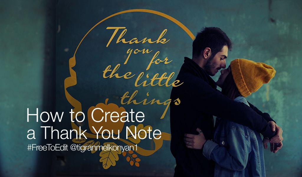 thank you note tutorial