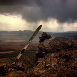 trecking spain guadalajara rain clouds