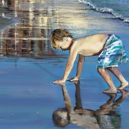 babyboy gorgeous beach digitaldrawing art