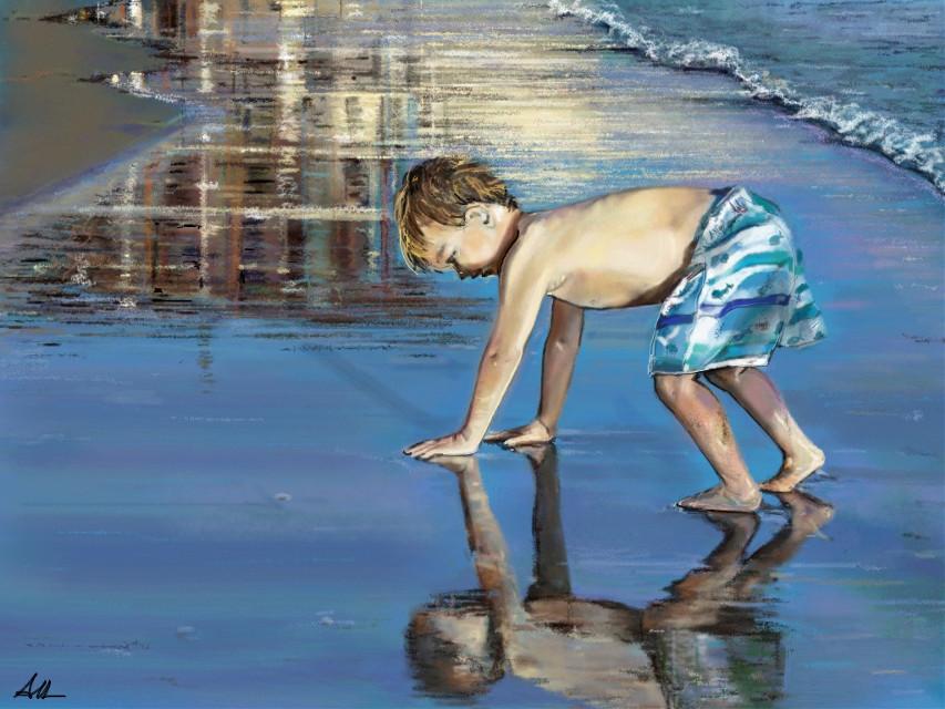 Watch the video :  http://youtu.be/ZUpgkaUeMy8  #babyboy #gorgeous #beach #digitaldrawing #art #summer #drawing