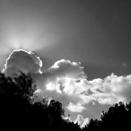 blackandwhite photography nature clouds sky