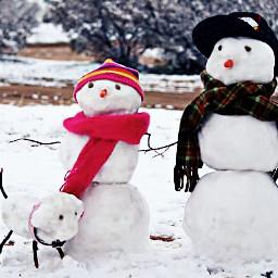 cold cute snowfamily winter
