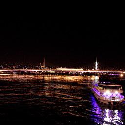 photography night sea bridge istanbul