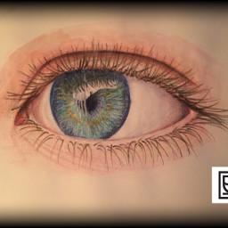 art drawing eye blueeyes color