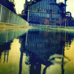bethlehemsteel steelstacks bethlehem reflection crossprocess