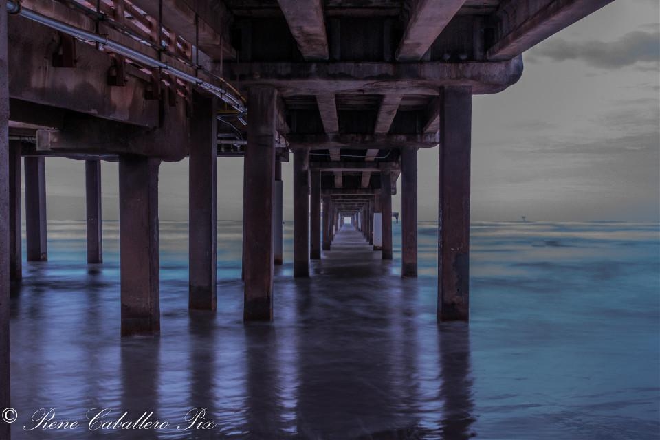 Sunrise Under Bob Hall pier on Mustang island