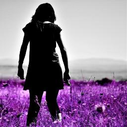 purple bw colorsplash portrait wapdreamvacation wapautumnvibes freetoedit