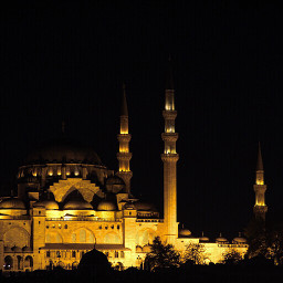 photography mosque night istanbul
