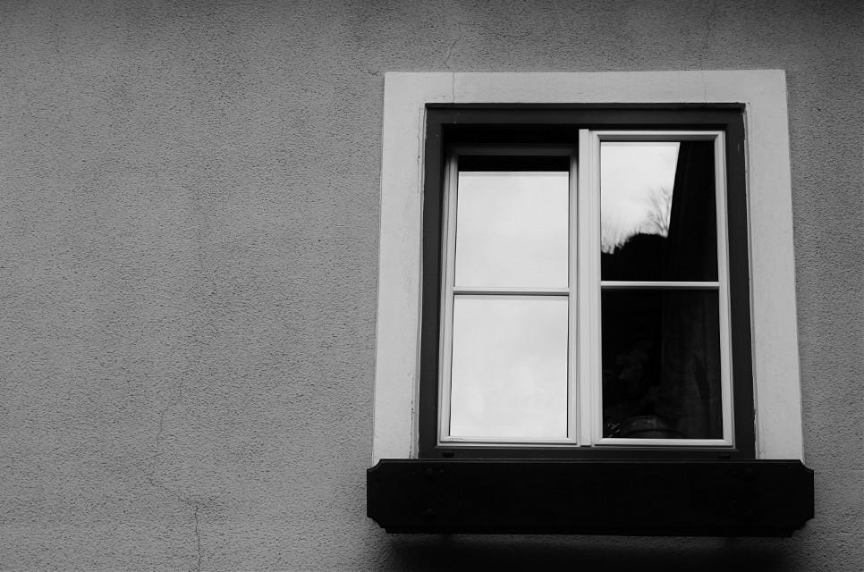 #blackandwhite #photography  #street  #window  #building  #freetoedit