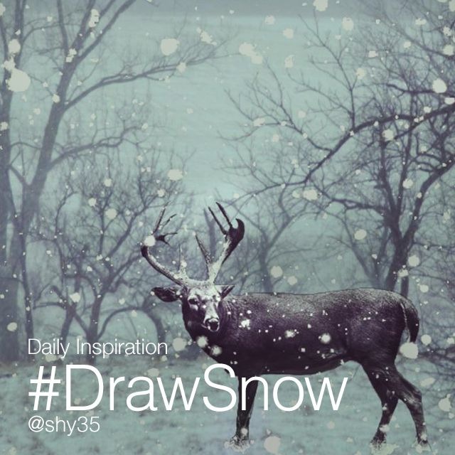 drawing snow on photo