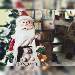 christmas santa red house love