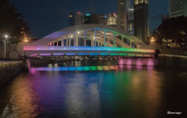 photography landscape singapore bridge night