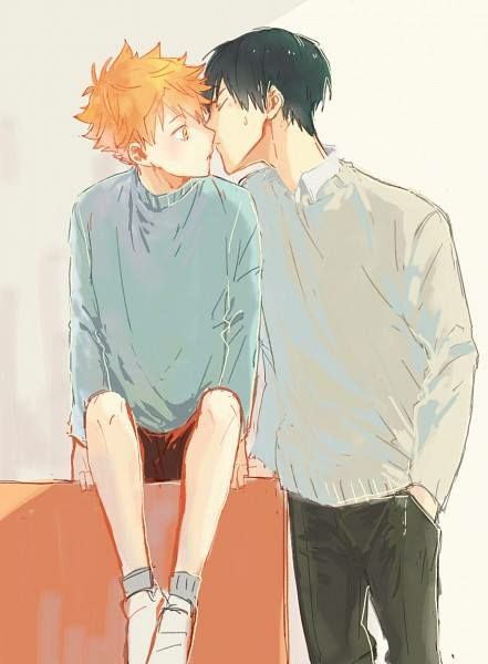 I used this as a cover photo for my new fanfic Kagehina