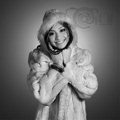 winter portrait blackandwhite b bw