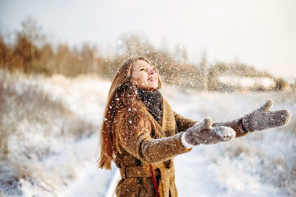 Let it snow! #snow #winter #people