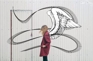 freetoedit ribbon art wings angel