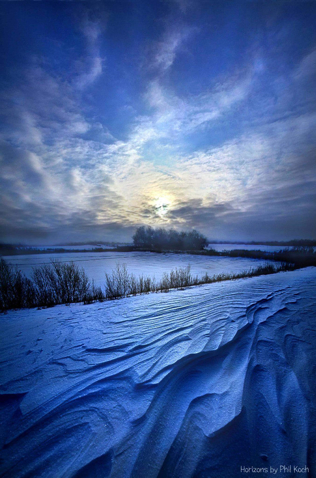 Horizons by Phil Koch.   #snow #winter #seasons #landscapephotography #sunrise #ice #colorful #nature #photography #hdr