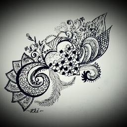blackandwhite drawing flower love emotions