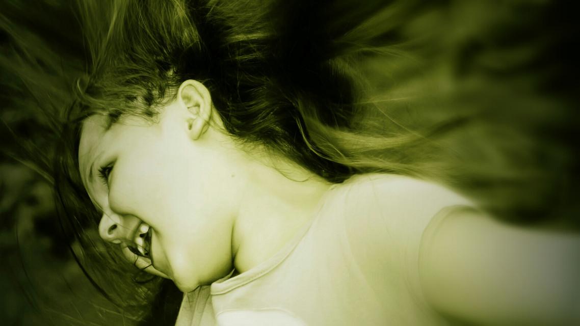 #girl  #green #fun  #smile  #people #emotions #movement