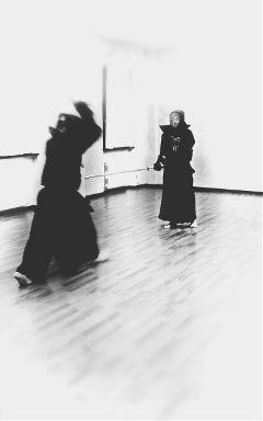 people kendo sword sport two
