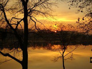 sunrise lake nature