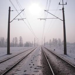 fterailway blackandwhite winter photography freetoedit