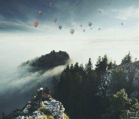 balloon freetoedit life nature peak